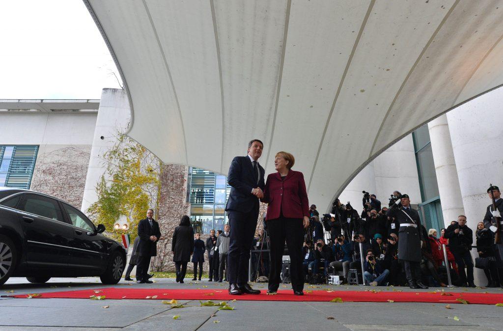 Merkel and Renzi
