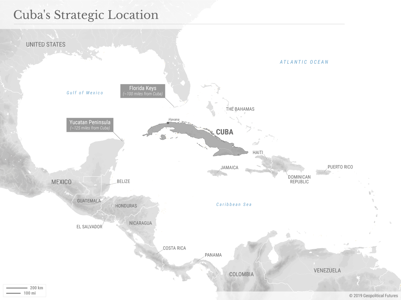 A New Chapter In Us Cuba Relations Geopolitical Futures - Us-cuba-map