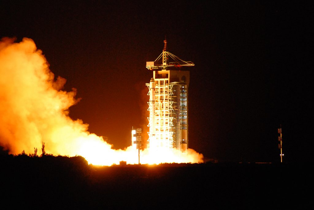 China's quantum satellite - nicknamed Micius after a fifth century BC Chinese scientist - blasts off from the Jiuquan satellite launch center in China's northwest Gansu province on Aug. 16, 2016. STR/AFP/Getty Images