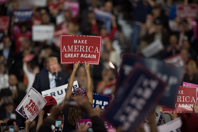 Republican Presidential Nominee Donald Trump Campaigns In Cleveland, Ohio