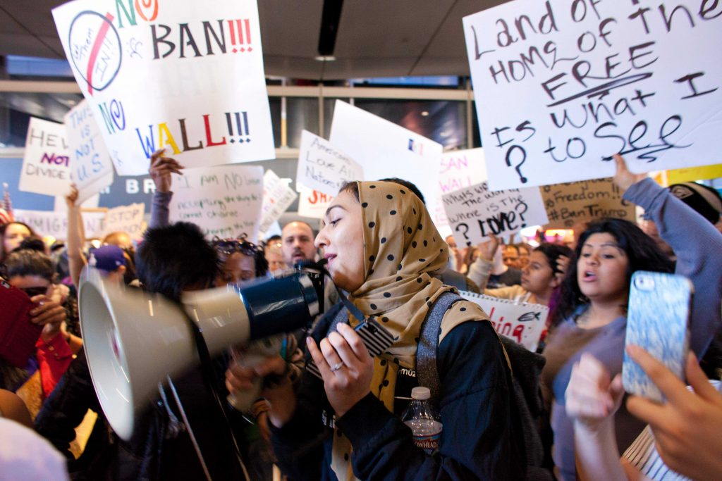 LAX protest