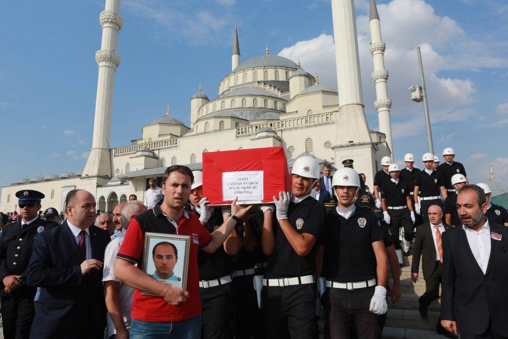 Turkey martyr funeral