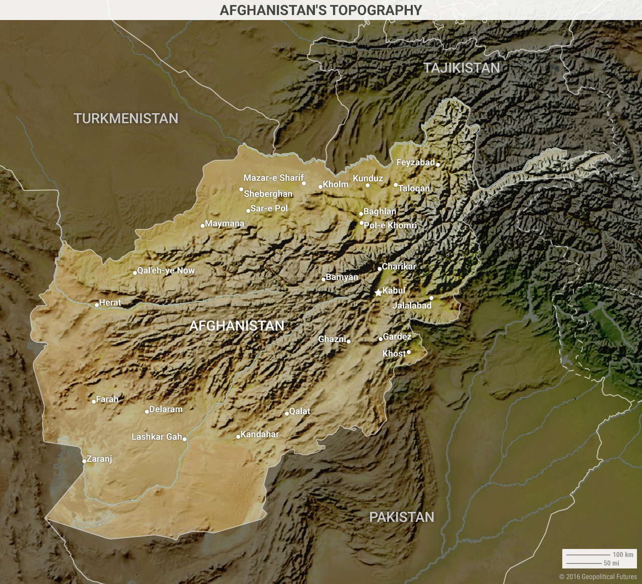 afghanistan-topography