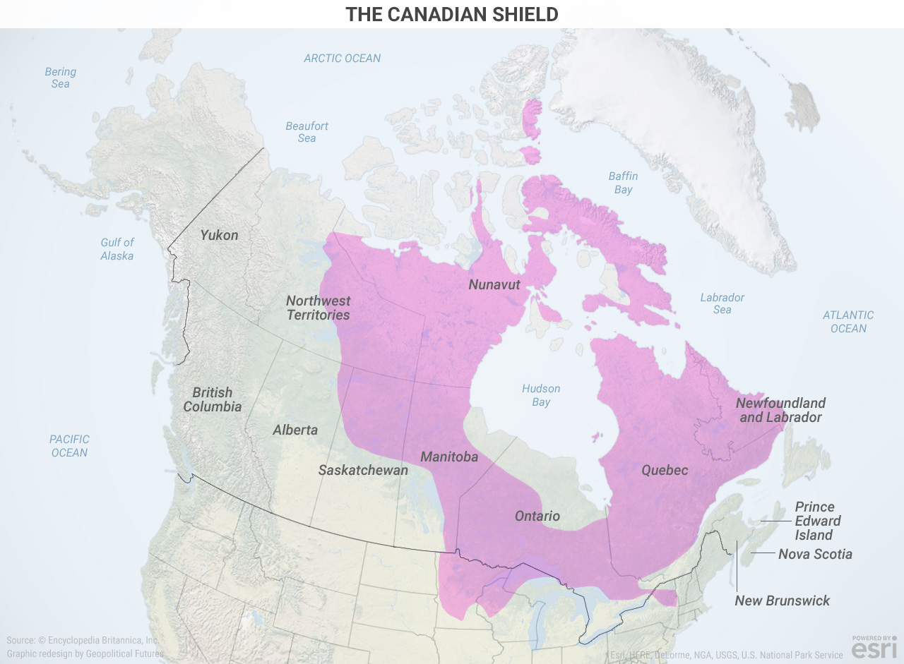 Map Of Canada Population Density.Canada S Geographical Reality Geopolitical Futures