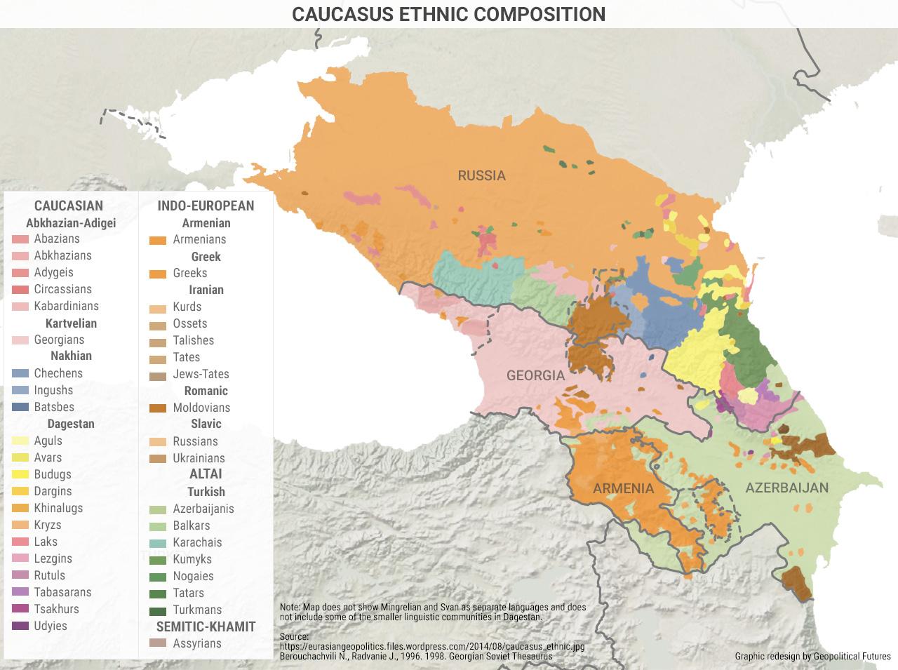 Abkhazia Georgia Caucasus Map on