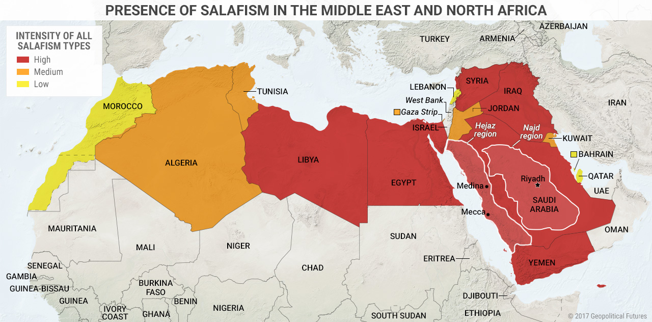 Presence of Salafism in the Middle East and North Africa ...