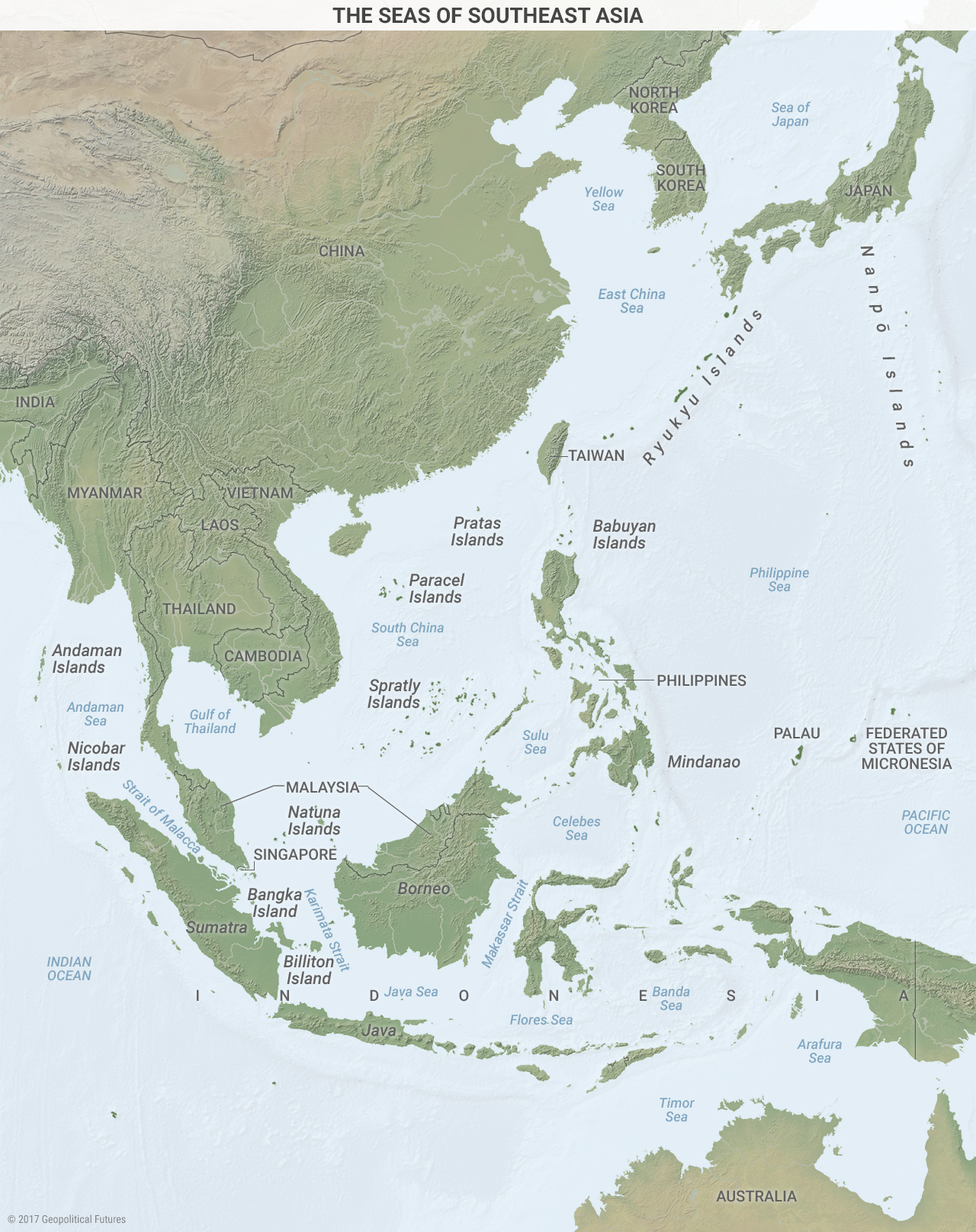 Map Of Asia Seas.Patrolling The Seas In Southeast Asia Geopolitical Futures