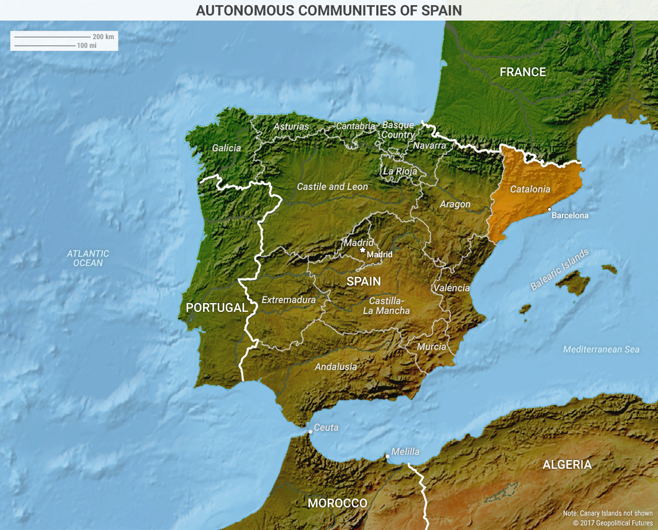 Map Of Spain Under Muslim Rule.The Catalan Revolt Of 2017 Geopolitical Futures
