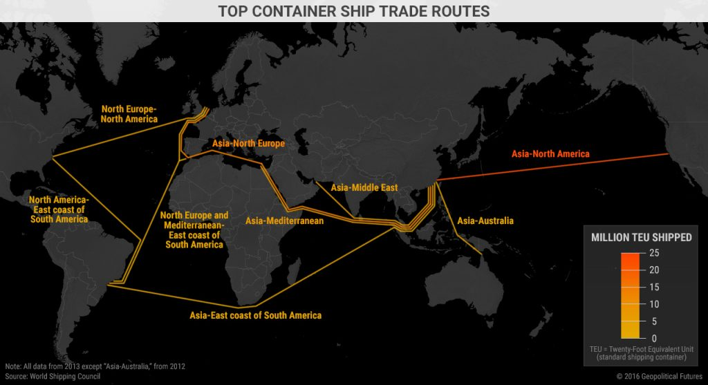 world-shipping-routes