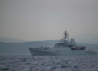 British ship patrols Gibraltar