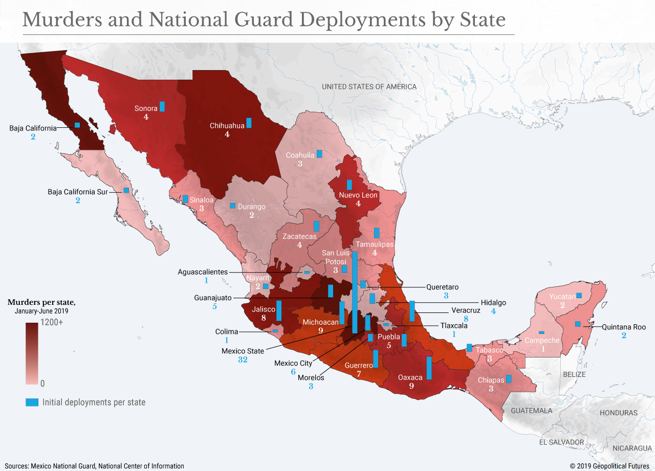 Murders and National Guard Deployments by State