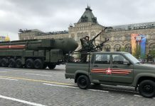 Russian Yars ballistic nuclear missiles