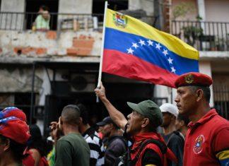 Maduro supporters in Venezuela