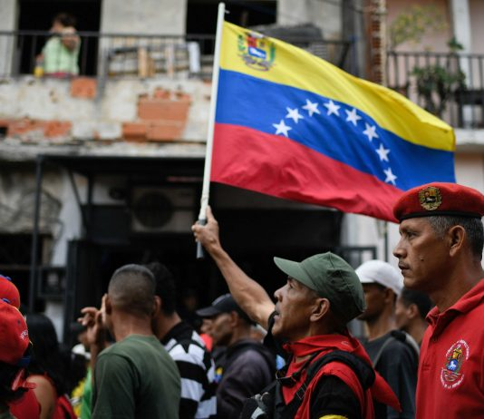 Maduro supporters in Venezuela