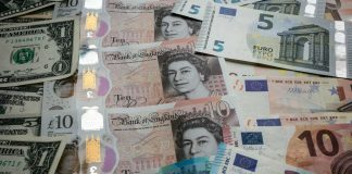 euro pound and dollar currencies