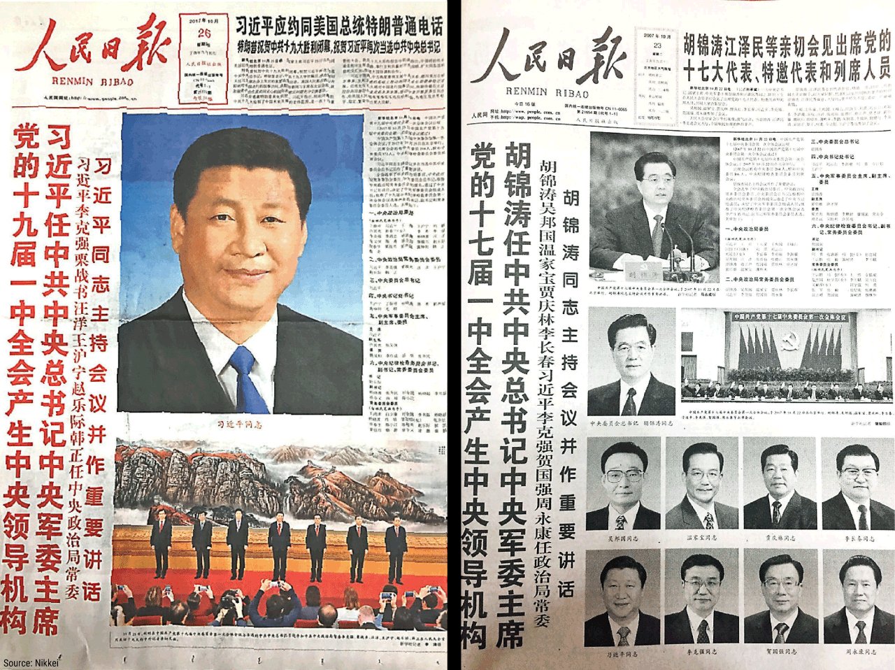 Xi gets Mao Treatment on Front Page