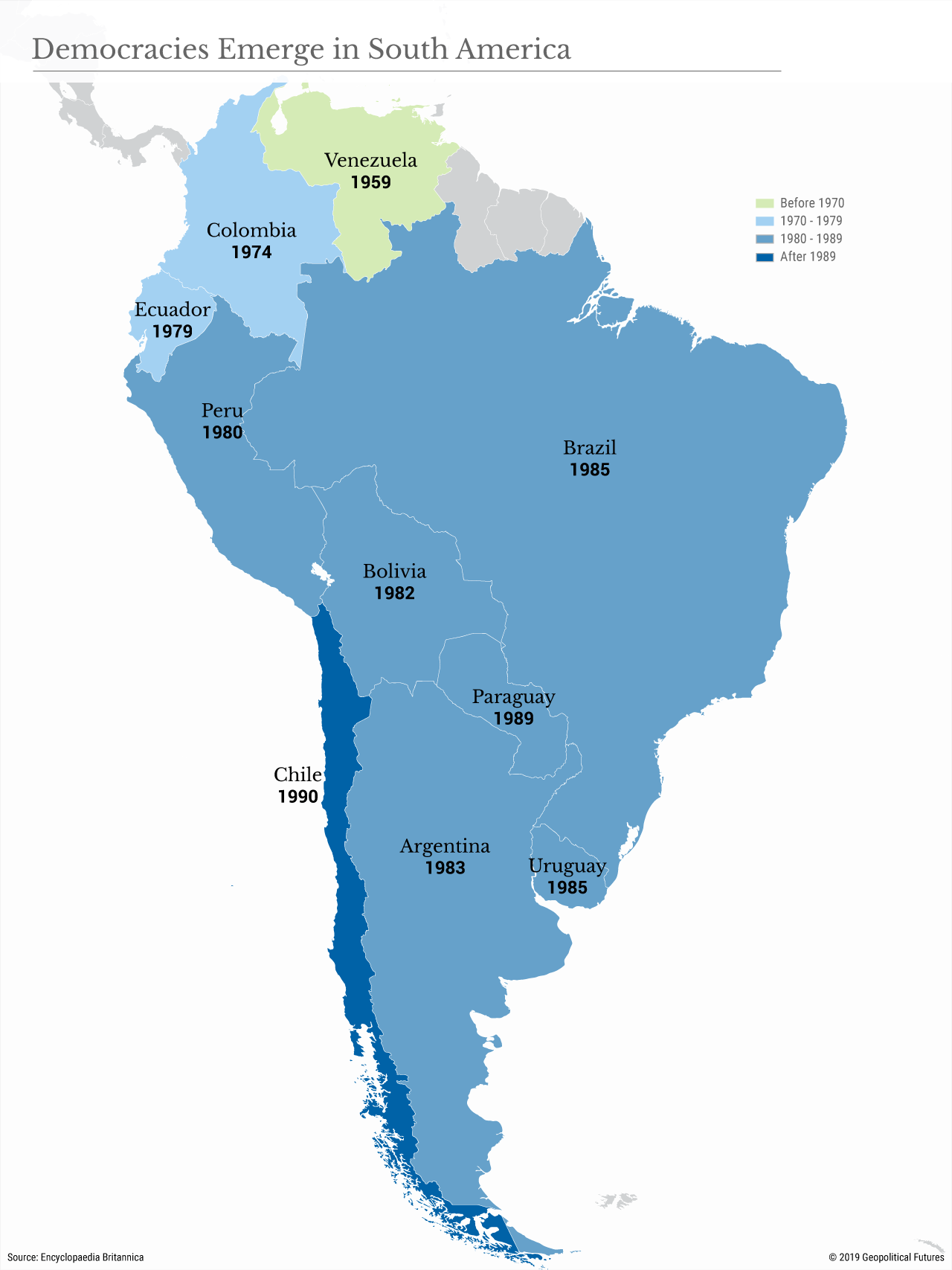 Democracies Emerge in South America