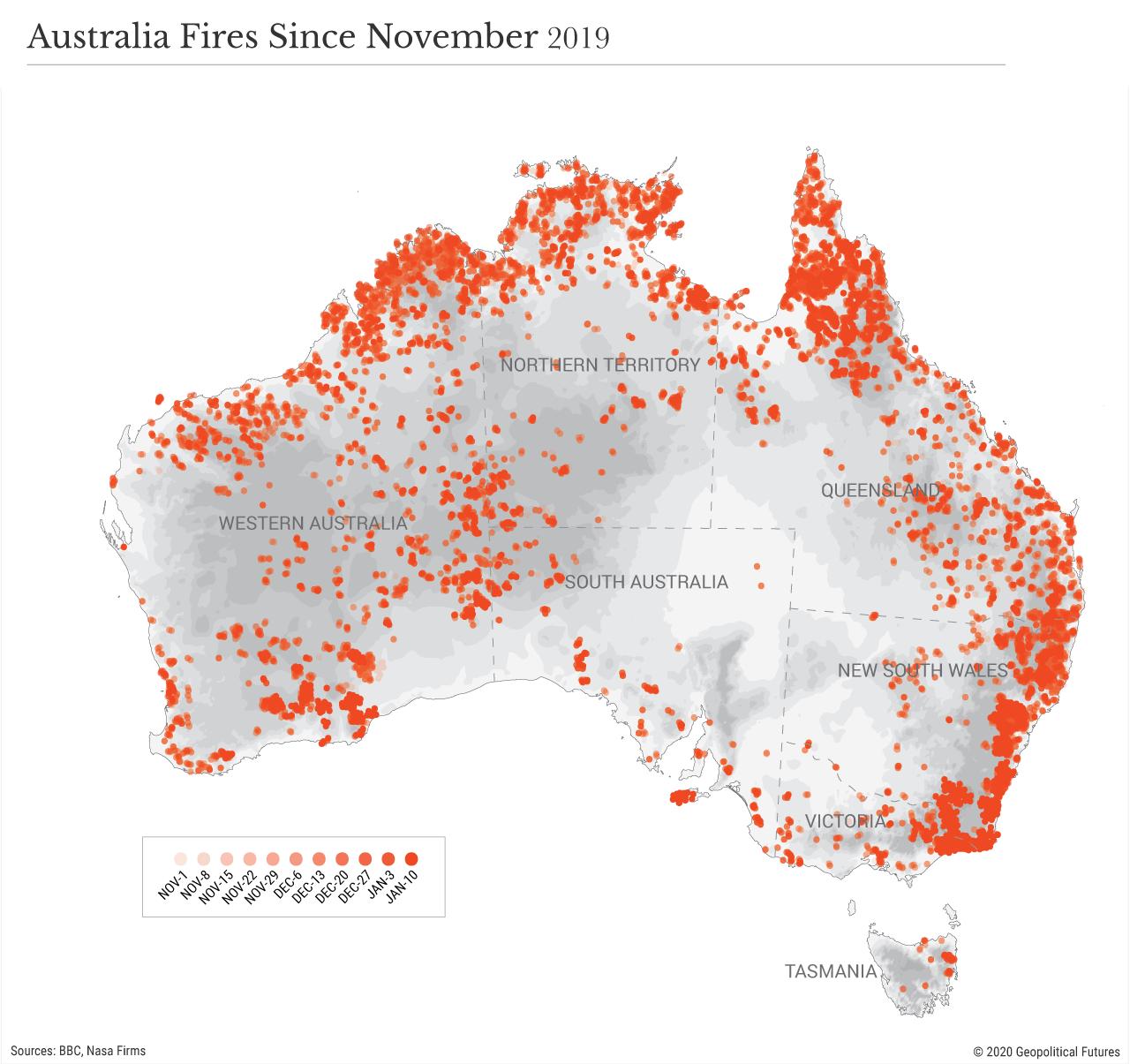 Australia Fires Since November 2019