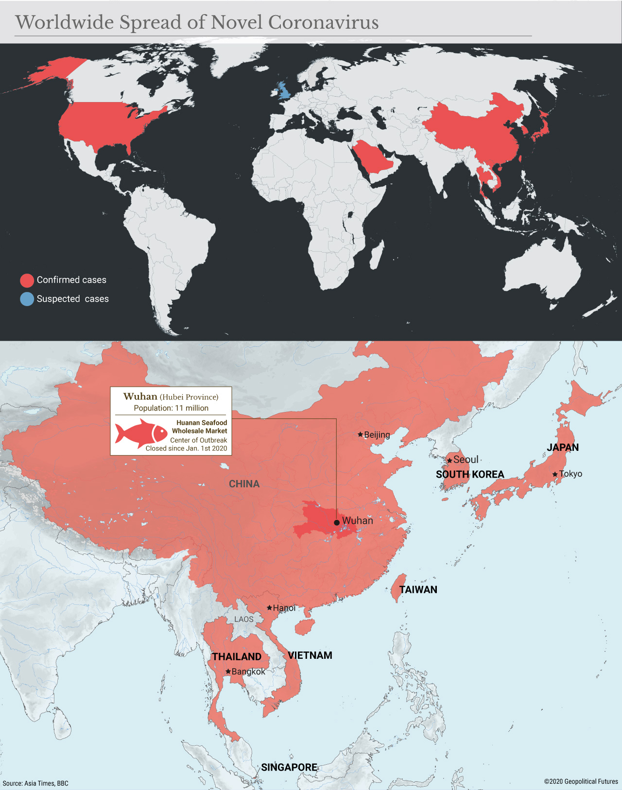 Worldwide Spread of Novel Coronavirus