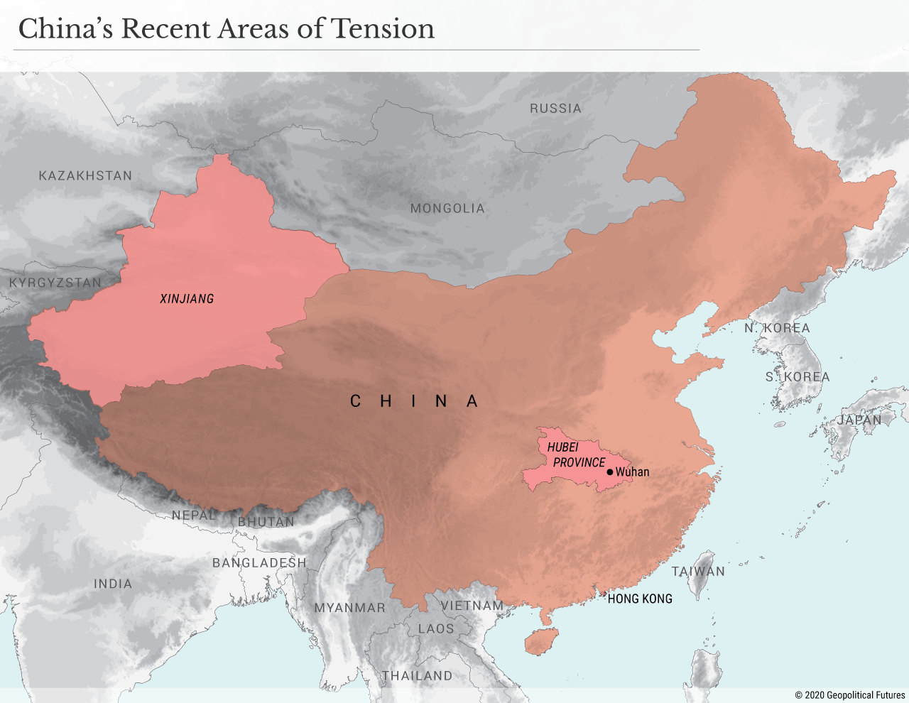 China's Recent Areas of Tension