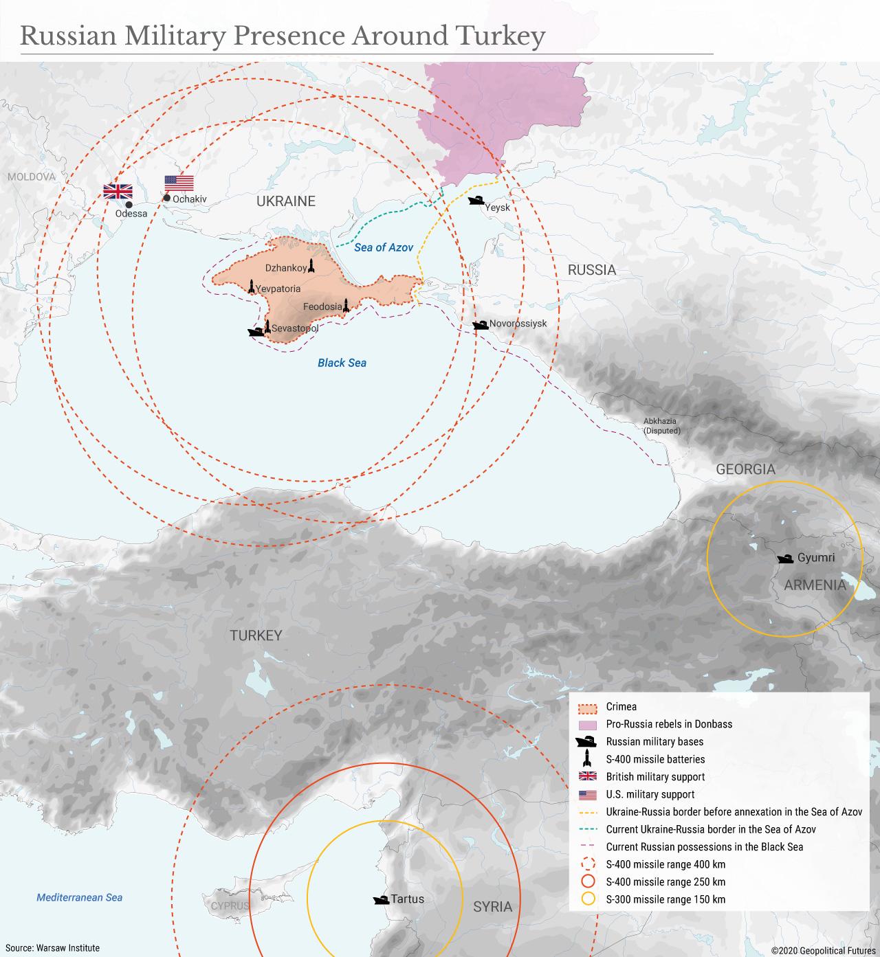 Russian Military Presence Around Turkey