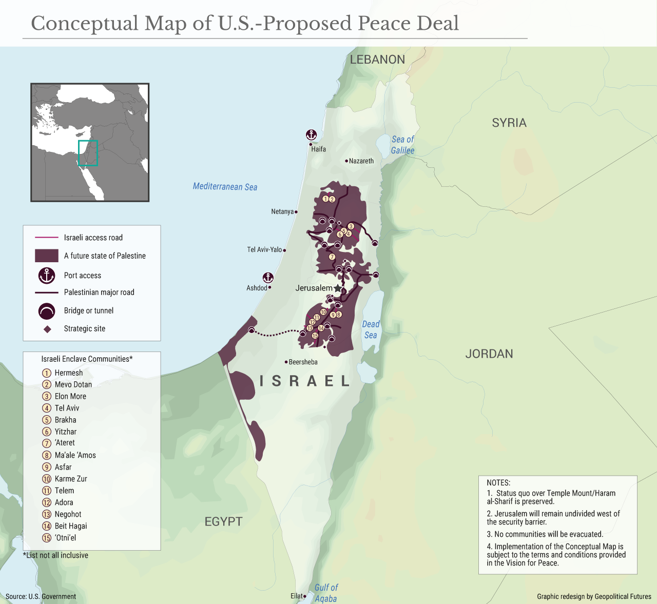 Conceptual Map of U.S.-Proposed Peace Deal