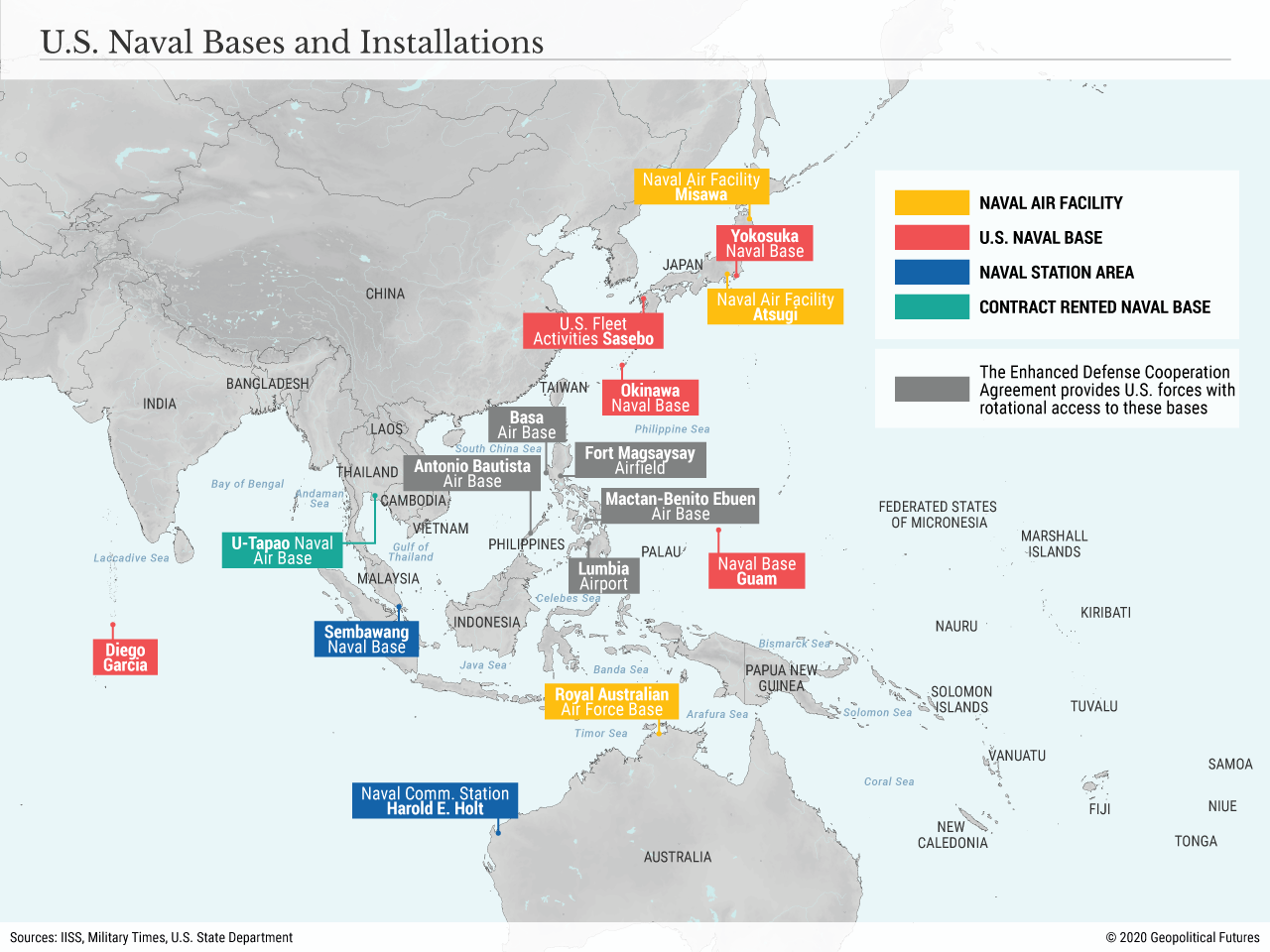 US Naval Bases and Installations