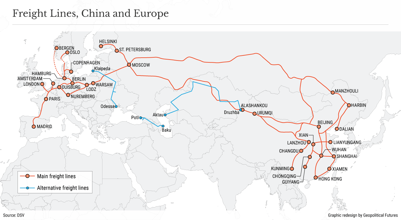 Freight Lines, China and Europe