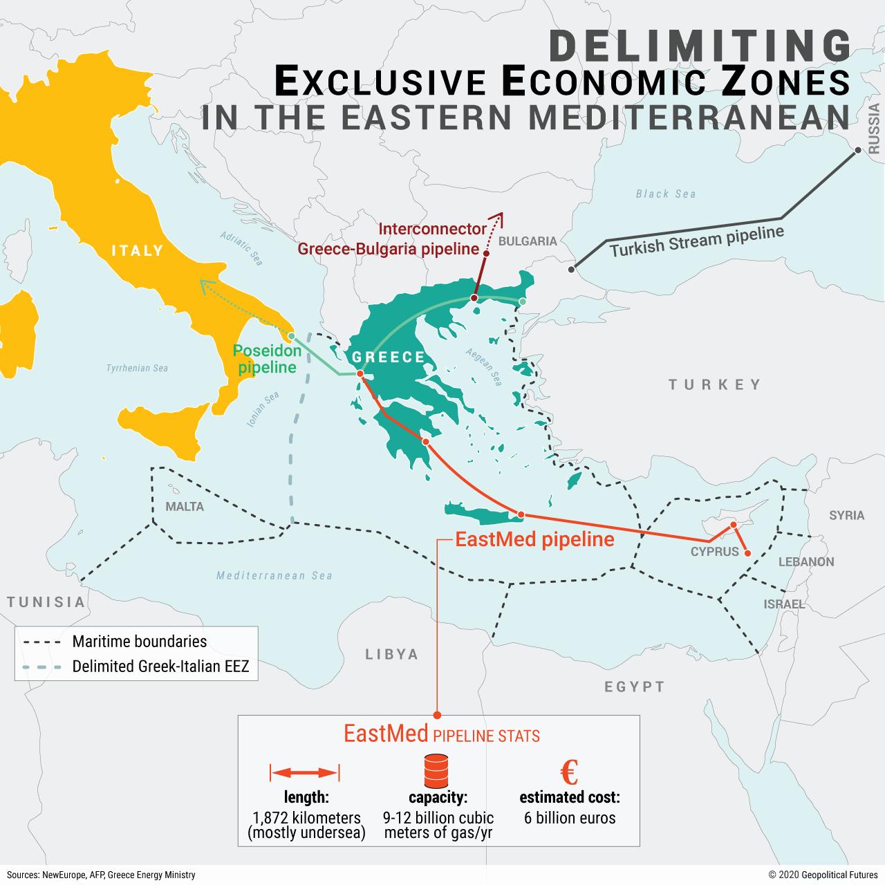 Delimiting Exclusive Economic Zones in the Eastern Mediterranean