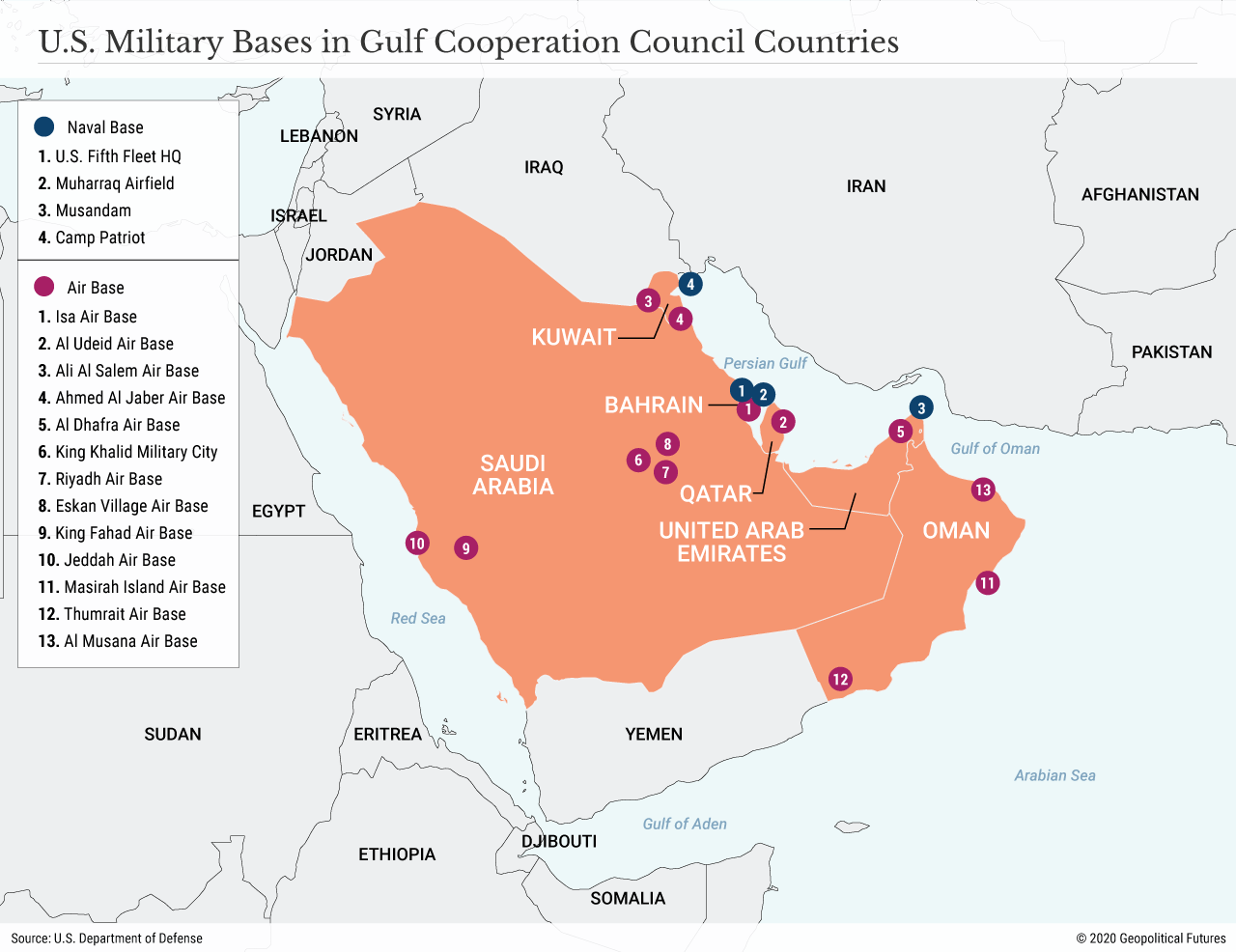 U.S. Military Bases in Gulf Cooperation Council Countries