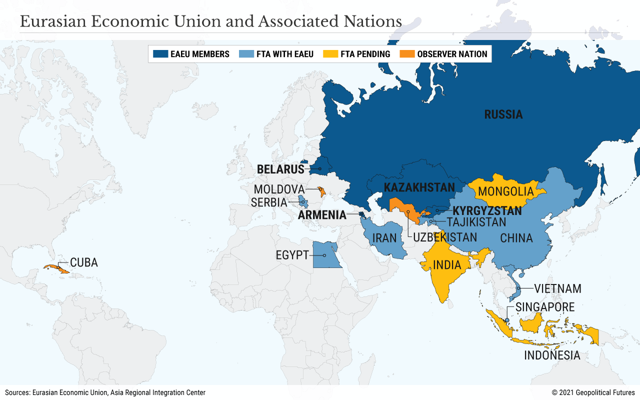 Eurasian Economic Union and Associated Nations
