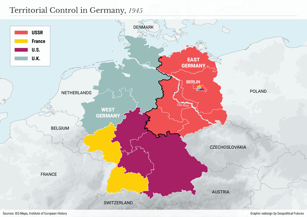 Territorial Control in Germany, 1945