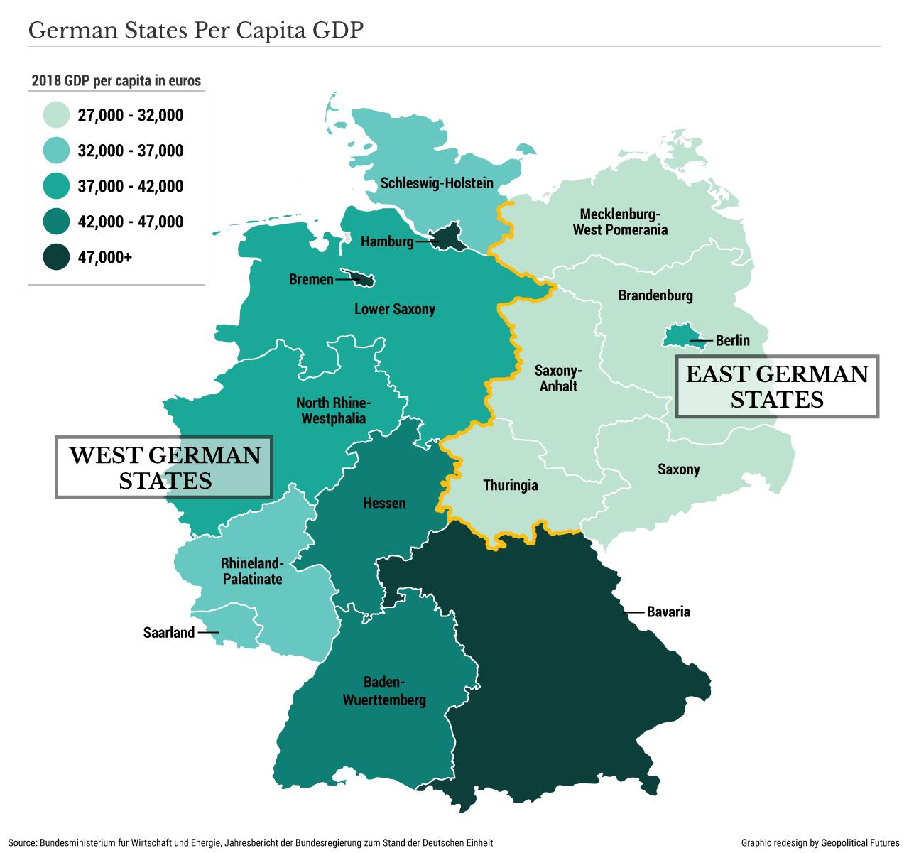 German States Per Capita GDP