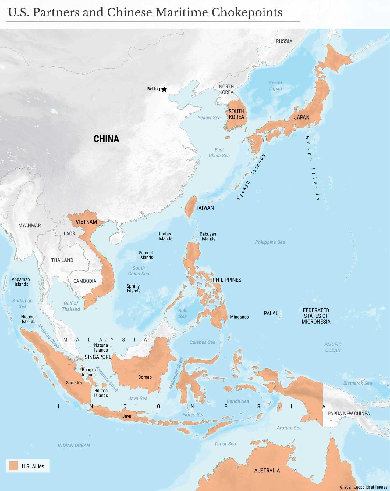 Partner statunitensi e Chokepoint marittimi cinesi